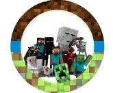 Papel Arroz Minecraft Redondo 008 1un