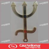 001140 - Garfo de Pomba Gira de Latão 10 cm