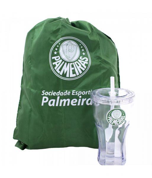 6898235fe0 Copo Com Canudo 550ml E Mochila Tipo Saco - Palmeiras - Scalla Presentes