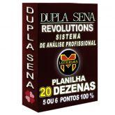 Planilha DUPLA SENA, aposte com 20 dezenas em 1515 jogos 5 ou 6 pontos 100%.