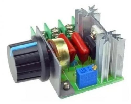 Dimmer Controlador de Velocidade para Motor 50-220vac 2000W Triac