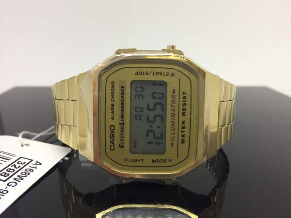 ee8eceb00f1 Relógio de Pulso Unissex Social Digital - Cronômetro - Casio A-168WG-9WDF  Mundial
