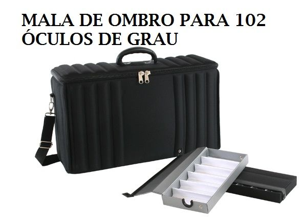 MALA DE OMBRO PARA 102 ÓCULOS DE GRAU