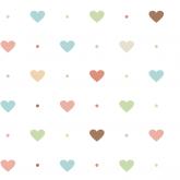 Adesivo Papel de Parede Corações Coloridos