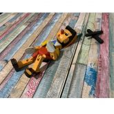 Pinóquio Marionete Articulado de Madeira - 21cm