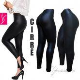 legging preta cirrê (P-M-G), cirrê preto com brilho semelhante ao couro