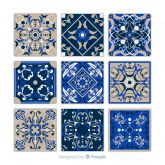 Collection-of-nine-blue-tiles