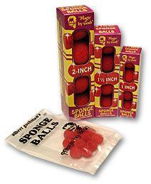 Bolas de Esponja Gosh(4bolas) Vermelhas 2 poleg.  #562