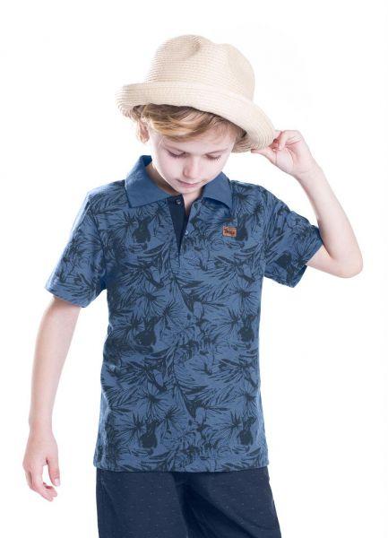 201) Tam. 6 - Camisa Polo Azul Trick Nick - Basiquito Moda e Presentes 39b018312675d