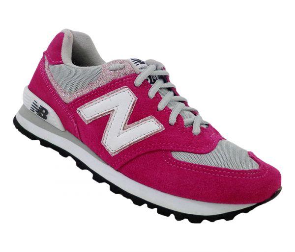 f80830b92f7 Tênis Feminino New Balance 574 Pink e Cinza MOD 13770 - ESTILO ...