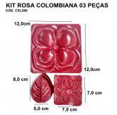 KIT ROSA COLOMBIANA 03 PEÇAS