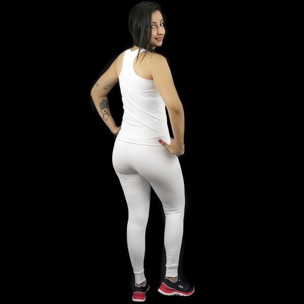 Regata Nadador Sprint Térmica Lisa Branca - Emana