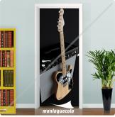 Adesivo Porta - Caixa e Guitarra