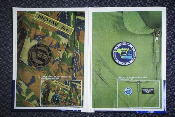 00 - Bordado Verde Dimensão 22 c  Velcro - Pontes Artigos Militares 8cc8beea954