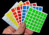 Adesivos para Mofang Jiaoshi MF6 de 67mm Half Bright Colours