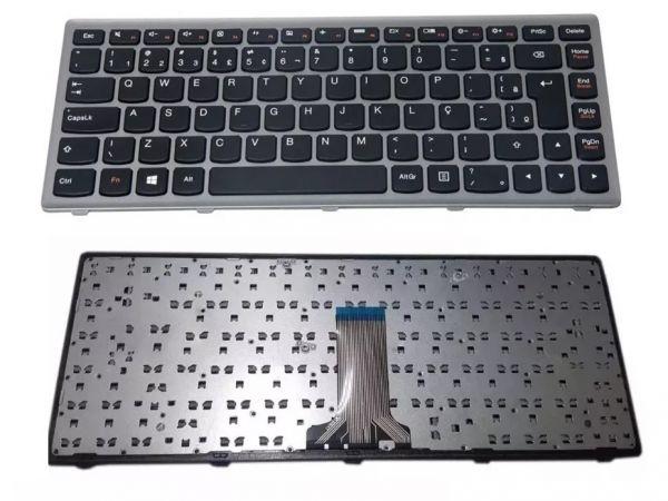 Teclado Lenovo G400s Moldura Preta Com Ç