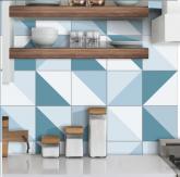 .Adesivo Azulejo Hidráulico Triângulos Suaves - Azulejo 131