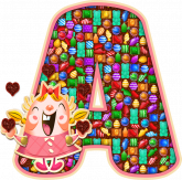 Alfabeto - Candy Crush 1 - PNG