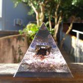 81003 - Pirâmide Proteção Transmutação - Turmalina e Ametista