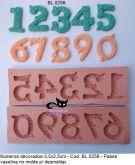 molde números  decorados