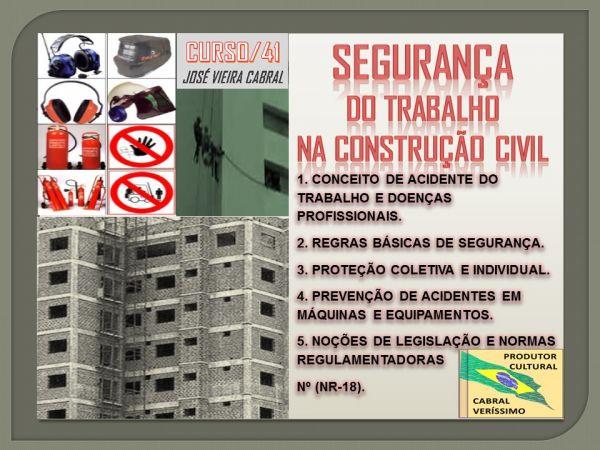 41. SEGURANÇA DO TRABALHO NA CONSTRUÇÃO