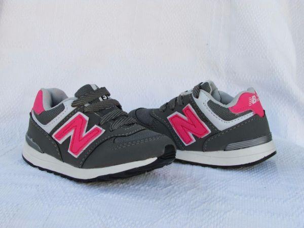 Tênis New Balance Infantil 574 Cinza c  Rosa - Outlet Ser Chic 00334de83e0bb
