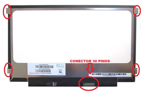 Tela 11.6 Led Slim 30 Pinos Fosca Modelo: Nt116whm-n21