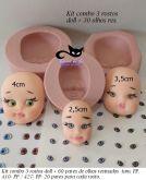 kit combo 3 rostos doll + olhos res 410 PP /427 PP