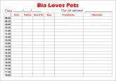 Agenda de anotação para Veterinárias e Pet Shop