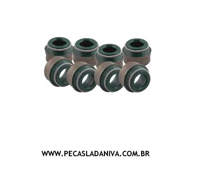 Retentores das Valvulas do Cabeçote c/ 8 Peças Niva (Novo) Ref. 0198
