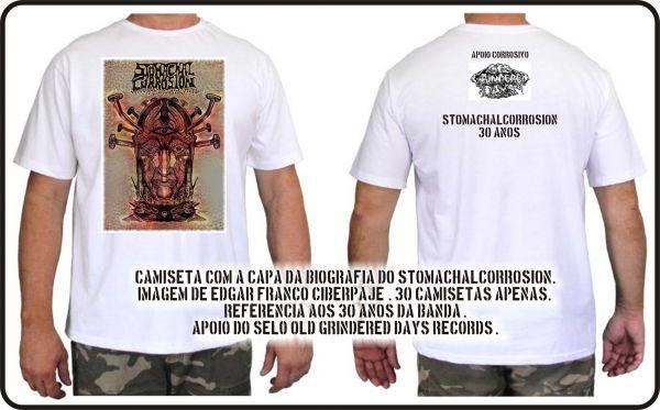 Camisa - StomachalCorrosion - Capa da Autobiografia