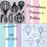 Marcadores Nuvens e Balões