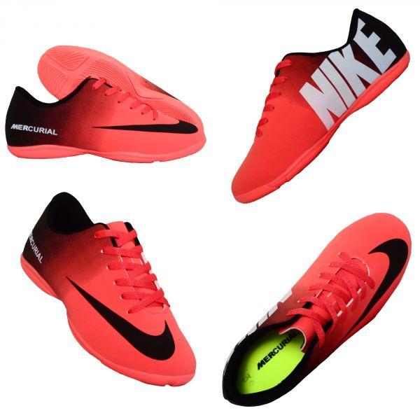 518ca7085f004 Chuteira Futsal Nike Mercurial Vortex Salmão e Preto - Klink Modas e ...