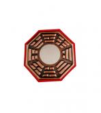 Bagua Feng Shui 9cm com Espelho Plano