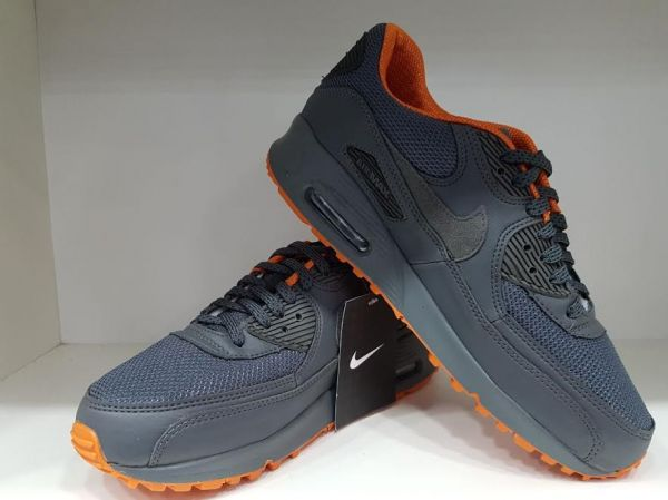 bd2b688c942 Tênis Nike Air Max 90 Premium Azul Marinho c  Laranja - Outlet Ser Chic