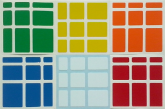 Adesivo Mirror Block Colorido Especial