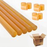 Bastão cola quente silicone amarela super forte 30cm 5 Und