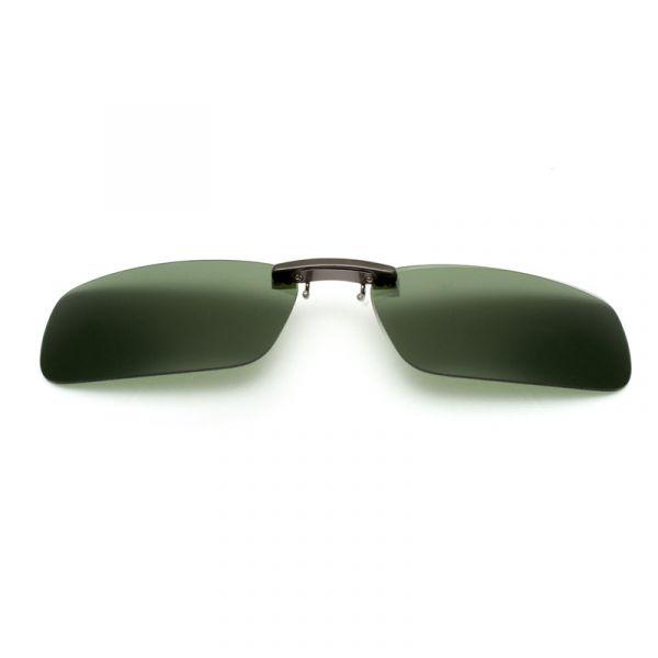 Lentes   Clip de sol para sobrepor em óculos de grau - Polarizadas - verde  escuro 8f57cc078e