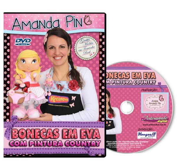 DVD - Bonecas em EVA com Pintura Country
