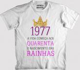 Camiseta O NASCIMENTO DAS RAINHAS