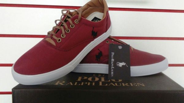 Tênis Polo Ralph Lauren - Vinho - Shop Calçados   Cia bbb91807e4d