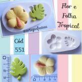 Flor e Folha Tropical