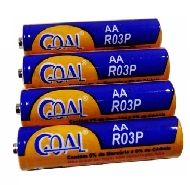 Pilha Comum 1,5 V AA Goal