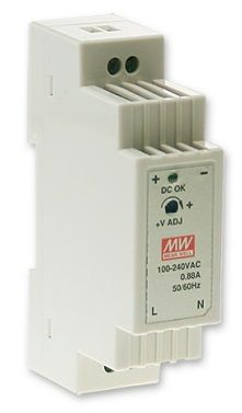 DR-15-12 Fonte Chaveada Industrial p/ Trilho DIN 12VDC x 1,25A Original Mean Well