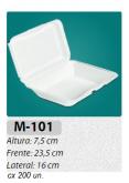M-101 BANDEJA C/ TAMPA ARTICULADA C/ 200 UN.