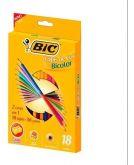 Lapis De Cor Bic Bicolor 18 Lapis 36 Cores + Apontador