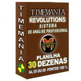Planilha TIMEMANIA - Aposte Com 30 Dezenas, 4, 5 Ou 6 pontos 100%