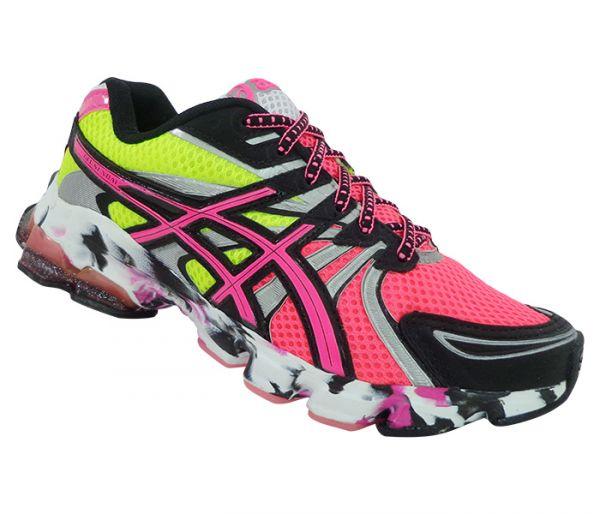 e32c8c261f2 Tênis Feminino Asics Gel Sendai Verde Limão e Pink - Dude Store