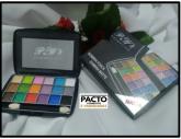 Paleta de sombras 18 cores P&W cor 1-2