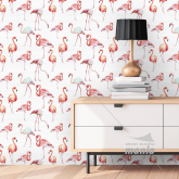 Adesivo Papel de Parede Flamingos